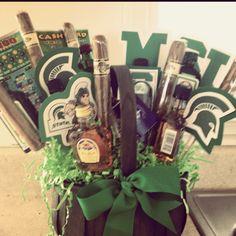 MSU graduation gift basket! #msu #giftbasket #graduation