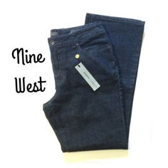 NWT Nine West Bootcut Jeans - Dark Wash New With Tags! Nine West Stretch Jeans - Dark  Chicago Wash. Bleeker Fit Bootcut. Size 14. 31 Waist. Nine West Jeans Boot Cut