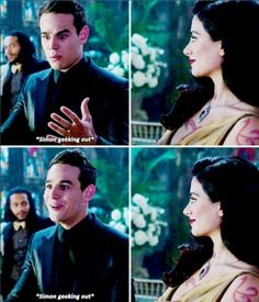 Sizzy   Isabelle smiling as Simon geeks out after Malec kiss   TMI Shadowhunters