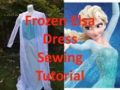Disney's Frozen Elsa Dress Tutorial/Sew-Along for McCalls M7000 (.... Elsa Dress Pattern)  - On YouTube - Check Pattern for if this is Adults or Kids Pattern !! - Right hand side of YouTube... There's now a bunch of Elsa Video Posts showing for both adults and kids!