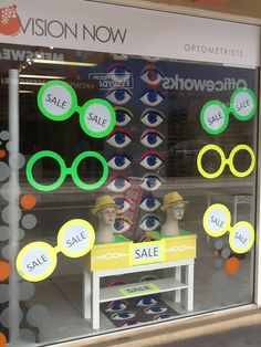 The eyes have it! Display by Through the looking glass retail window stylists Melbourne.
