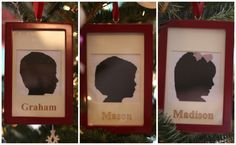 You wont believe how easy and quick these Silhouette Ornaments are to make. The process is easy and hardly any cutting involved. A keepsake for years!
