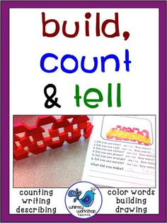 FREE Build, Count and Tell Printable -  Open ended, Differentiated, Engaging and Hands-On! Use this with any building materials for no-prep jobs. Students simply build and then count the number of each color they used. Then count the total, and write about it! Great for your Sub Tub or rainy recess! Whimsy Workshop Teaching http://whimsyworkshop.blogspot.ca/