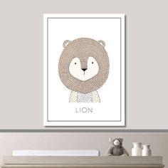 SHOP CULTURE - Lion Nursery Print // Minimalist Poster // Wall Art Poster // Nursery Poster // Space Poster // Minimal Poster