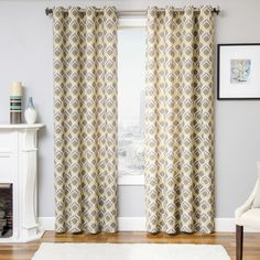 Blakely 3-Color Ikat Curtain Panel