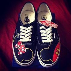 Mickey & Minnie Custom Vans Shoes