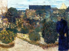 Marie in the Garden Edouard Vuillard - circa 1893