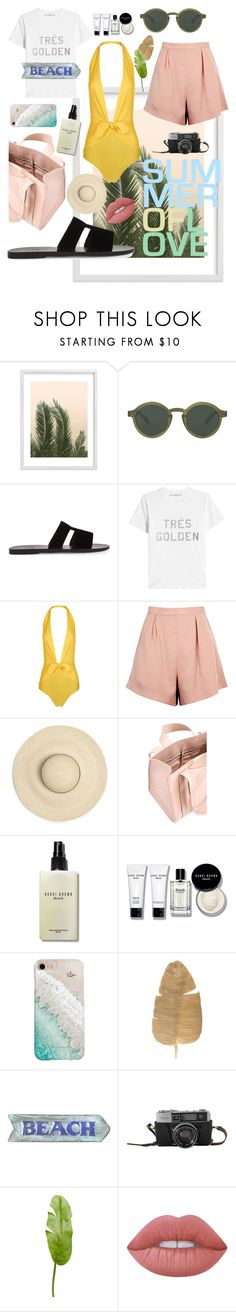 """""""Très Golden"""" by enu-india on Polyvore featuring Wilder California, Ancient Greek Sandals, Golden Goose, ADRIANA DEGREAS, Finders Keepers, Corto Moltedo, Bobbi Brown Cosmetics, Gray Malin, Pier 1 Imports and Lime Crime"""
