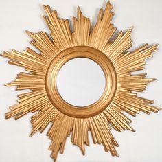 Sunburst Mirror Finished In Gold Leaf