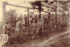 German East Africa -- Germans hanging offenders, World War 1