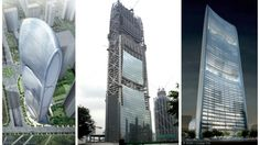 The Pearl River Tower, described as one of the most energy-efficient skyscrapers in the world, has reached its topping out milestone on the way to its planned completion later this year. Pearl River Tower, Future Buildings, Different Forms Of Art, Skyscrapers, Multi Story Building, Artsy, Pearls, Architecture, World