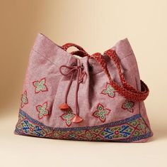 Kerala embroidered tote