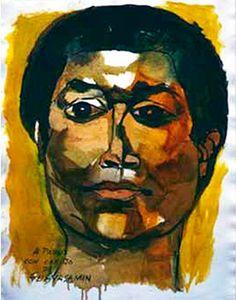 Pablo Milanes 1987 Oswaldo Guayasamín