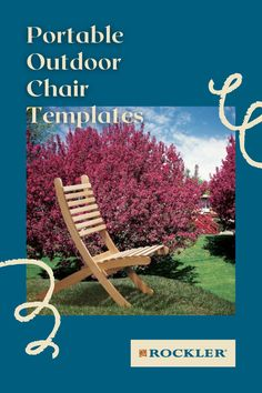 This chair comes apart into two curved halves that nest for easy transport and storage. Buy the optional stainless hardware convenience and durability! #CreateWithConfidence #PortableChair #OutdoorChair #Template #WoodworkingPlan