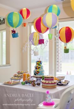 Sometimes I am lucky enough to be asked to photograph a family's most exciting events, like the first birthday party. I know your first question i… - Decoration For Home Rainbow First Birthday, Baby First Birthday, First Birthday Parties, First Birthdays, Rainbow Baby, Birthday Celebration, Birthday Ideas, Hot Air Balloon Centerpieces, Balloon Decorations