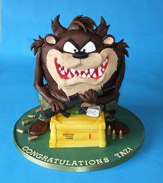 Taz Congratulations Cake