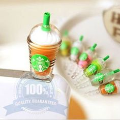 Plug In Earphone dust Jack Accessory for iPhone or any 3.5mm audio jack Starbucks Green Tea1.for all device with 3.5mm audio