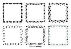 Cadres vectoriels à main dessinée Borders Free, Doodle Borders, Cool Doodles, Border Design, Book Of Shadows, Free Vector Art, How To Draw Hands, Bullet Journal, Clip Art