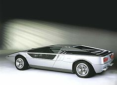 The Maserati Boomerang, designed by Giorgetto Giugiaro.  There's only one, and it sold to a private collector for $600,000.