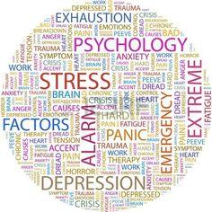 STRESS Word collage on white background em Stock Photos