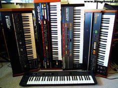 1979: JUPITER-4, 1982: JUNO-60, 1984: JUNO-106, VP-330 Vocoder Plus, 1985: Alpha JUNO-2