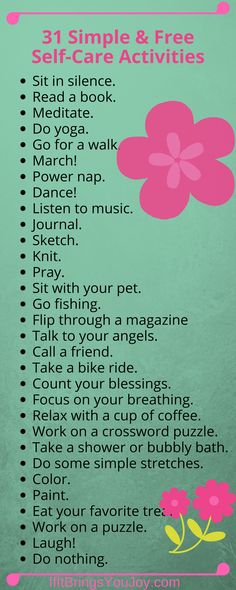 No excuses! Self-care activities that anyone can do. You're worth 10 minutes per day!