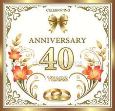 40 házassági évforduló — Stock Vektor © seriga #79608048
