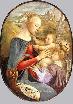 Madonna and Child with Two Angels  Attributed to Botticelli  (Italian, Florence 1444/45–1510 Florence)    Medium:      Tempera on wood  Dimensions:      Oval, 39 1/4 x 28 in. (99.7 x 71.1 cm)  Classification:      Paintings  Credit Line:      H. O. Havemeyer Collection, Bequest of Mrs. H. O. Havemeyer, 1929  Accession Number:      29.100.17    This artwork is not on display
