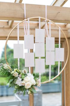 Hoop Table Plan with Flowers | Pastel Wedding at Gaynes Park | Anneli Marinovich Photography