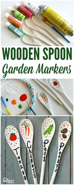 Wooden Spoon Garden Markers are a fun and cute project you can do to add a touch of whimsy to your vegetable garden.