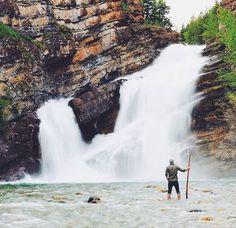 Waterton Falls Alberta. such a nice place for a day trip
