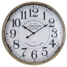 Nástěnné hodiny kovové Vintage Ø 50 cm Kensington dc6ae358280