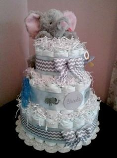 Elephant Baby Shower Theme Ideas Diaper Cakes
