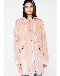 Free, fast shipping on Long Velvet Coat at Dolls Kill, an online boutique for punk and rock fashion. For Love And Lemons, Pink Velvet, Raincoat, Dolls, Jackets, Clothes, Fashion, Rain Jacket, Baby Dolls