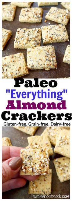 """Paleo """"Everything"""" Almond Crackers (GF) 