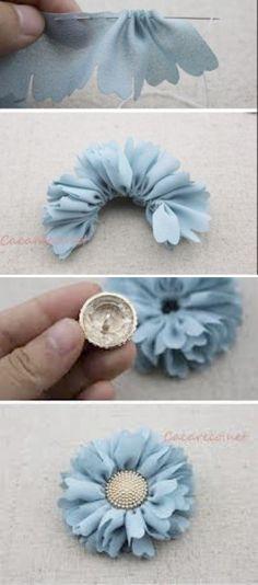 52 Trendy Ideas For Hair Diy Tutorial Fabric Flowers Cloth Flowers, Burlap Flowers, Felt Flowers, Diy Flowers, Fabric Flowers, Paper Flowers, Ribbon Crafts, Flower Crafts, Fabric Crafts