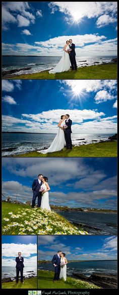 Armada Hotel Wedding spanish point stunning wedding photos of the bride and groom on the cliff tops