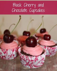 A Black Forest Gateaux Style cupcake recipe
