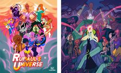 Rupauls Drag Race past winners Illustrated as Crystal Gems from Steven Universe