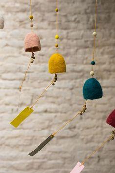 Easy DIY Felt Crafts, Felt Crafts Patterns and Felt Craft Tutorial For Beginner. Easy Felt Crafts, Diy And Crafts, Wet Felting, Needle Felting, Felt Decorations, Handmade Felt, Felt Art, Wind Chimes, Wool Felt