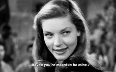 TO HAVE AND HAVE NOT ~ Humphrey Bogart & Lauren Bacall. [Video/GIF]