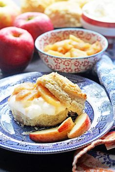 Brown Sugar Biscuit Apple Shortcakes using White Lily Flour: A delicious fall twist on a Southern dessert classic sure to start the season right.