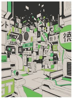 - Page 2 of 745 - Posters, art prints, toys, and hype. Japon Illustration, Cute Illustration, Manga Art, Anime Art, Art Cyberpunk, Omg Posters, Play Poster, Wall Drawing, Learn Art