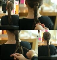 truebluemeandyou:    DIY Runway Hair fromtheTheiaShow. Really love this braid - but not a braid look and the hidden hair ties. Tutorial from So Much to Smile About here.