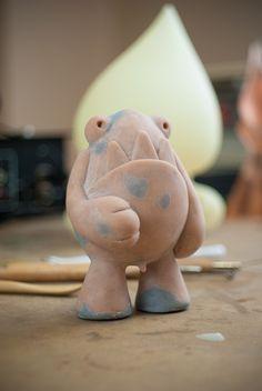 Prototipo del primer Toy: Zuby McField Un designer toy artesanal. Syntetyk.  An Artisan Designer Toy First Prototype