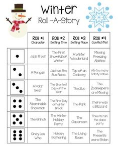 Winter Roll-a-Story Middle School Activities, Elementary School Counseling, Kindergarten Graduation, School Fun, Elementary Schools, School Days, Leadership Activities, Physical Education Games, Literacy Activities