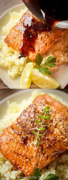 Garlic Ginger Glazed Salmon