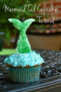 Mermaid Tail Cupcakes Tutorial