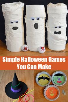 These simple Halloween games are super easy and inexpensive to make - even if you don't consider yourself a creative crafter.