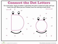 math worksheet : letter dot to dot d  worksheets dots and kindergarten : Letter D Worksheets Kindergarten